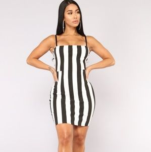 New fashion nova striped mini dress